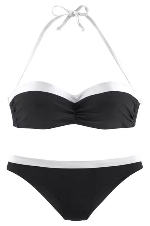Allovely Contrast Halter Bikini