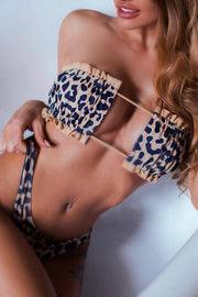 Allovely Sexy Bikini With Leopard Stitching