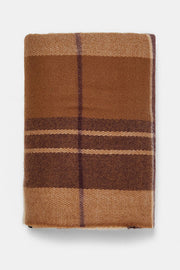 Allovely Brown Check Scarf