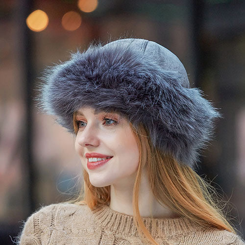 Allovely Suede Fur Hat