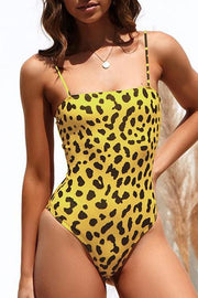Allovely Regular Leopard Printed Skinny Bikini