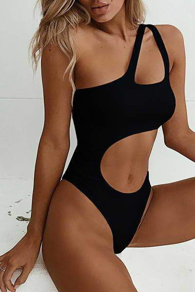 Allovely Cut Out Midriff Swimsuit