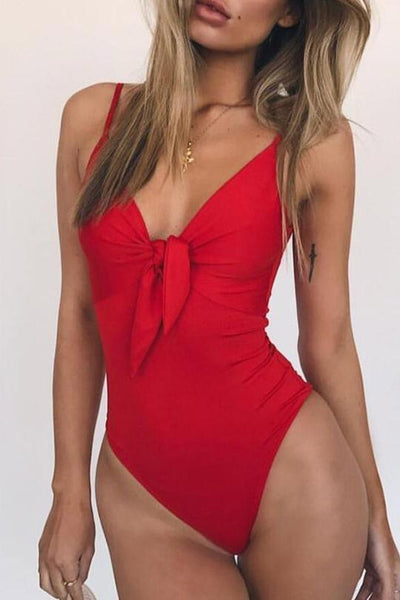 Allovely Bow Detail Swimsuit