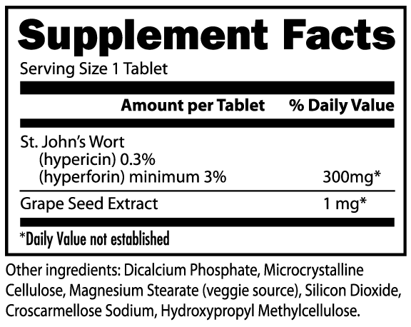 Hypericum Perforatum II - 300mg St. Johns Wort