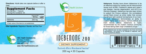 Image of Idebenone 200mg - 50 Capsules