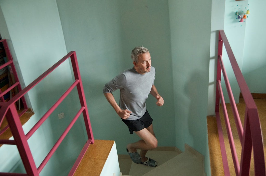 Will Appleyard Covid 19 lockdown stair-training