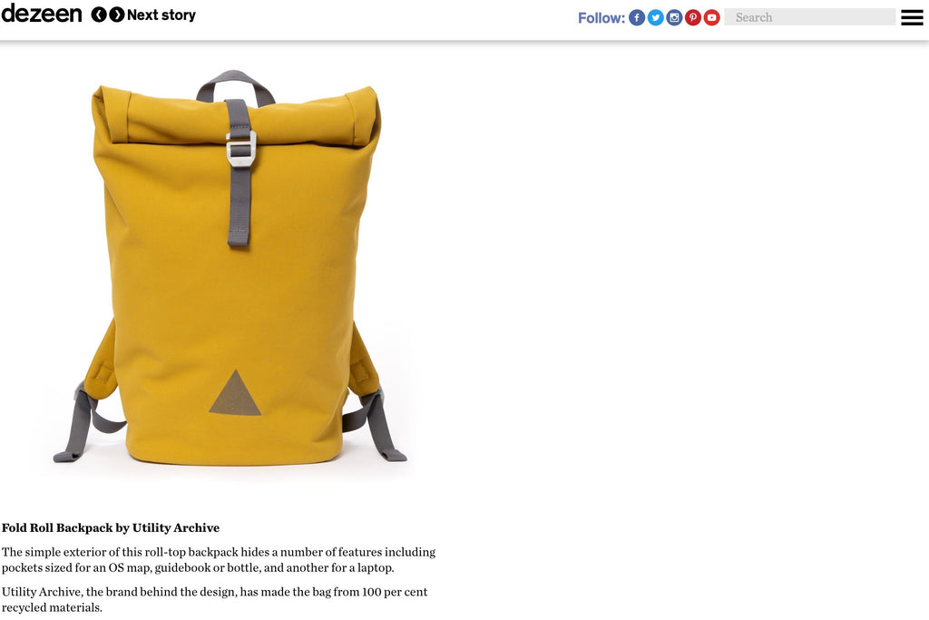 Yellow backpack in 2019 Dezeen Gift Guide