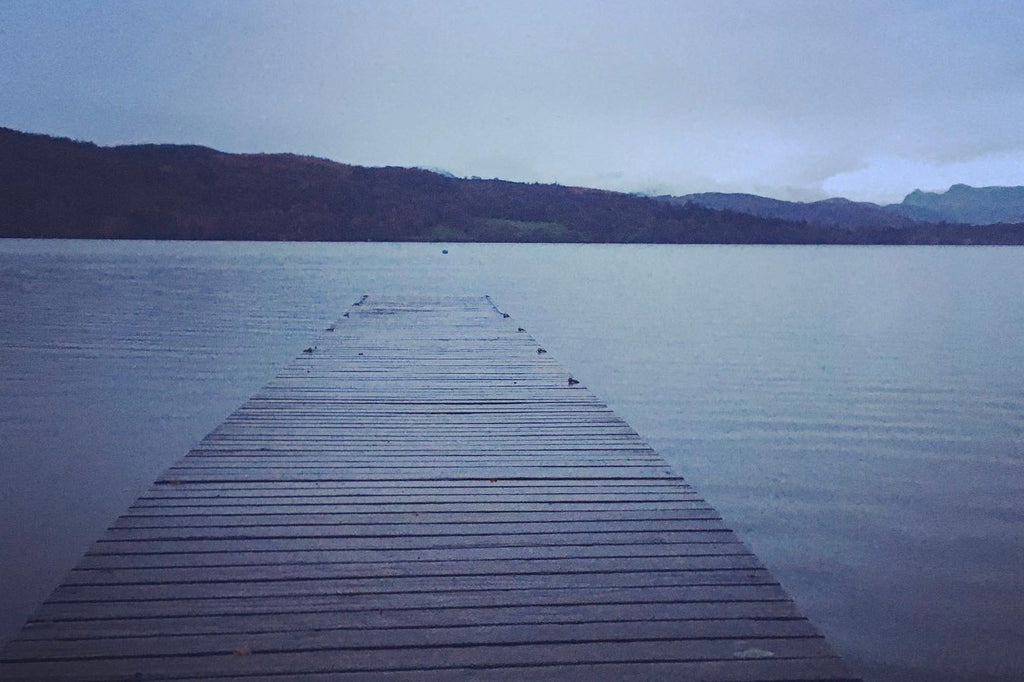 Windermere Lake in blue dawn light
