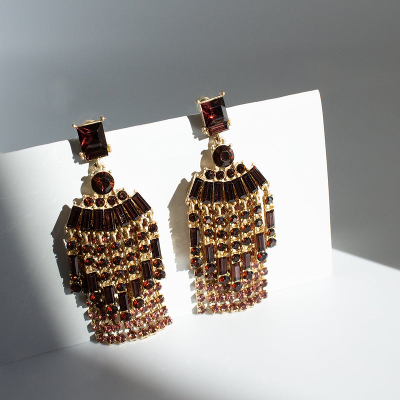 Martina Amber Earrings