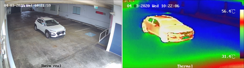 Visual camera vs thermal imaging camera