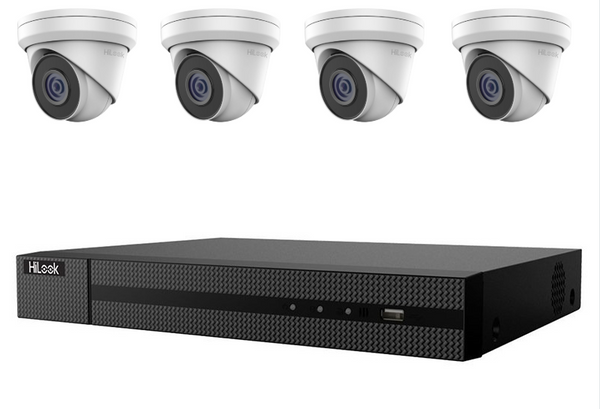 Hikvision HiLook 4MP 4CH Turret IP CCTV Kit