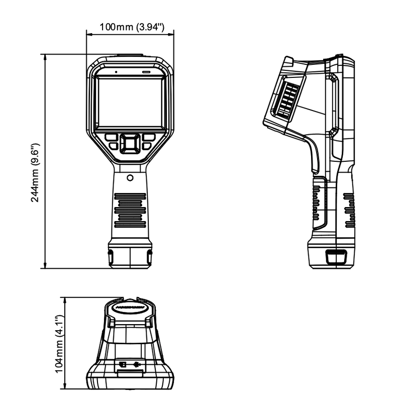 Hikvision Temperature Screening Handheld Camera Dimensions