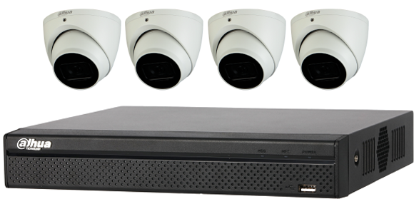 Dahua Starlight 4MP 4 CH Eyeball IP CCTV Kit (with 2TB HDD)