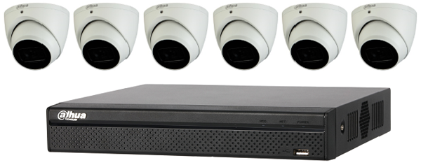 Dahua Starlight 4MP 8 CH Eyeball IP CCTV Kit (with 2TB HDD)