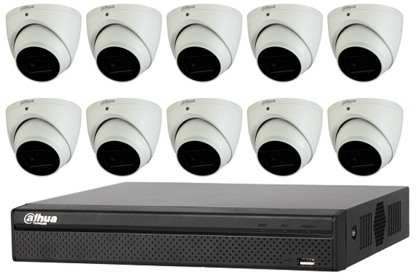 Dahua Starlight 4MP 16 CH Eyeball IP CCTV Kit (with 3TB HDD)