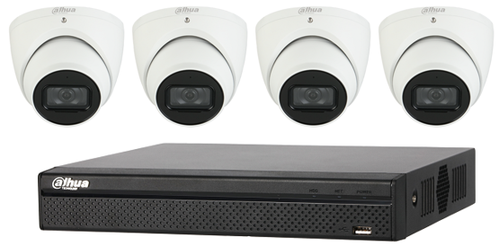 Dahua Starlight 5MP 4 CH Eyeball IP CCTV Kit (with 2TB HDD)