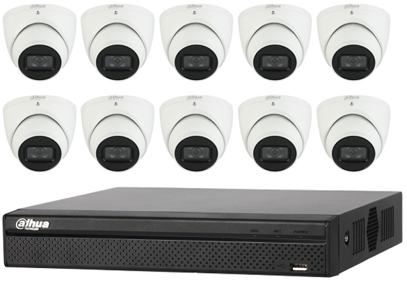 Dahua Starlight 5MP 16CH Eyeball IP CCTV Kit (with 3TB HDD)