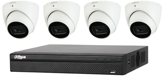 DISCONTINUED Dahua WizSense 6MP 4 CH Eyeball IP CCTV Kit (with 2TB HDD)