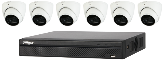 Dahua WizSense 6MP 8 CH Eyeball IP CCTV Kit (with 2TB HDD)