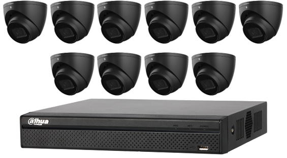 Dahua WizSense 6MP 16 CH Eyeball IP CCTV Kit (with 3TB HDD) Black