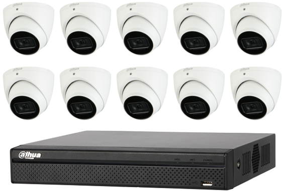 Dahua WizSense 6MP 16CH Eyeball IP CCTV Kit (with 3TB HDD)