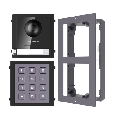 Hikvision 2nd Gen Door Station + Keypad Module + Surface Mount IP Intercom Kit