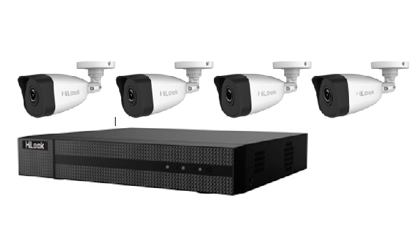 Hikvision HiLook 4MP 4CH Bullet IP CCTV Kit (with 1TB HDD)