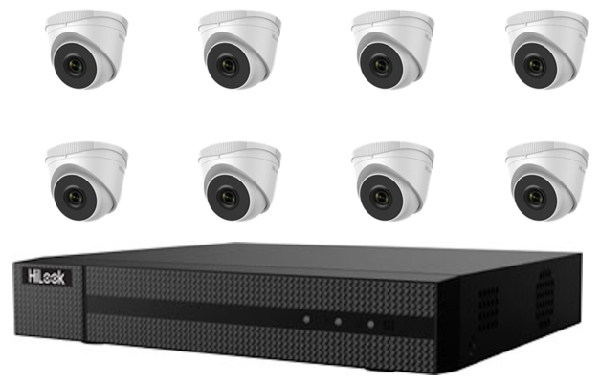 Hikvision HiLook 4MP 8CH Turret IP CCTV Kit (with 2TB HDD)