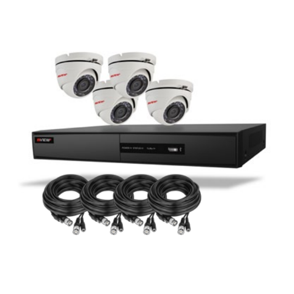 Ness NView2 2MP 4CH Turret HD-TVI CCTV Kit