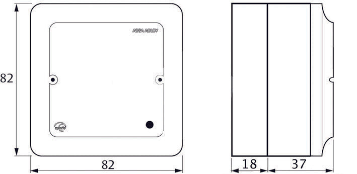 Assa Abloy Aperio AH20-2-0 Communication Hub Dimensions