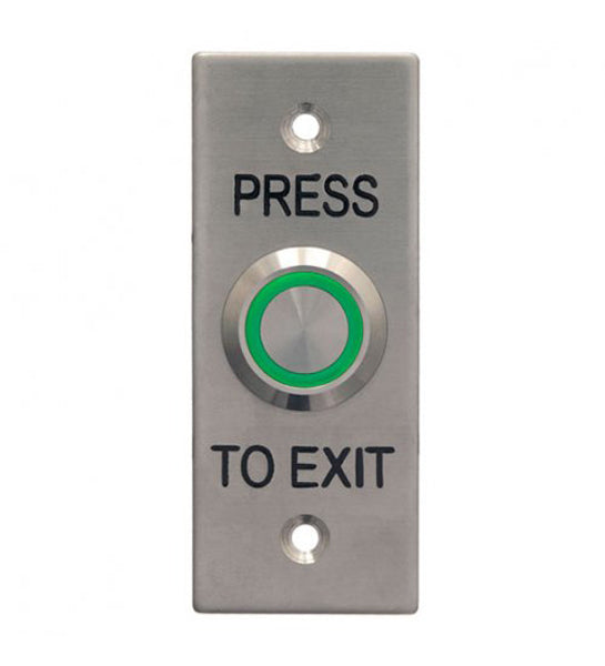 1103 Illuminated Architrave Plate Exit Button