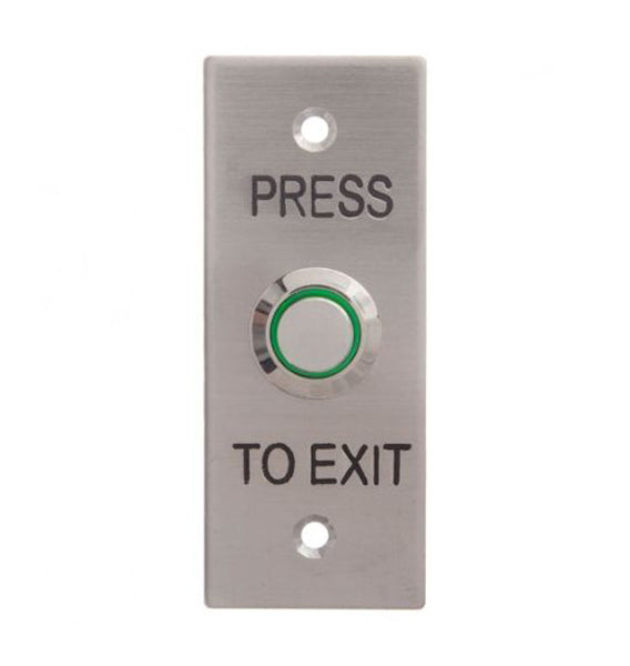 1107 Illuminated Architrave Plate Exit Button