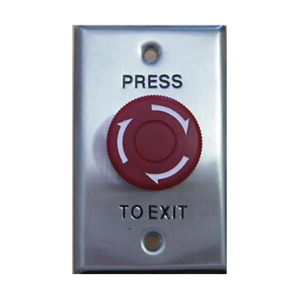 Secor WEL2210R-S Twist-Reset Mushroom Exit Button