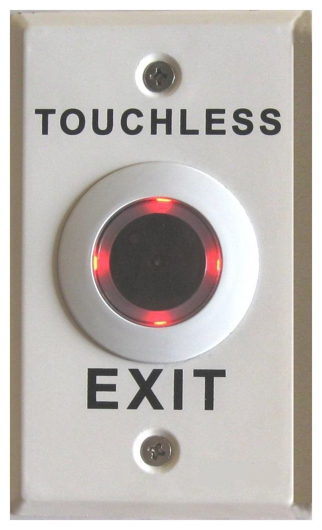 DISCONTINUED WEL3761P Illuminated Touchless Exit Button