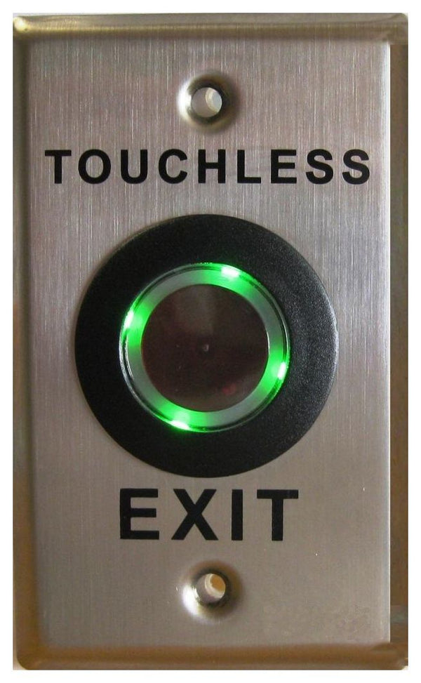 WEL3761S Illuminated Touchless Exit Button