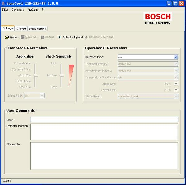 Bosch ISN-SMS-W7 SensTool PC Software
