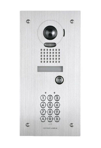 Aiphone JK Series Stainless Steel Colour Vandal Door Station with Keypad