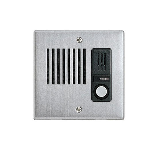 Aiphone LEF - LEM Series Stainless Steel Faceplate Audio Door Station