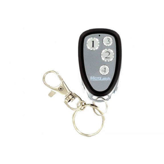Microlatch 4 Button Metal Keyfob 1 Weigand I-D and HID Tag (plus programming form)