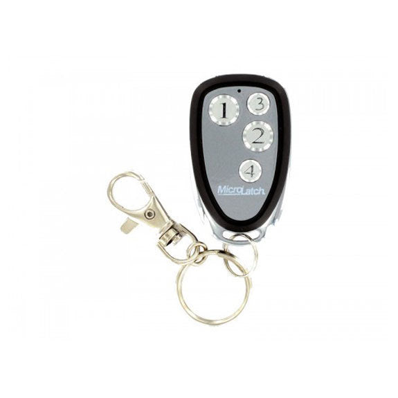 Microlatch 4 Button Metal Keyfob 4 Weigand I-D and HID Tag (plus programming form)