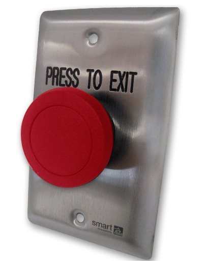SMART4350R Red Press-To-Exit Button