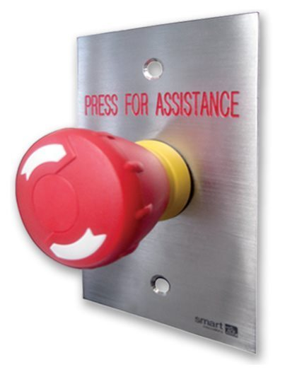 Red Twist-to-Release Button Switch SMART4371