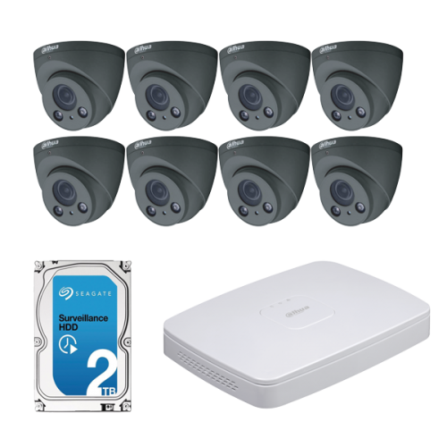 Dahua IPC-HDW2431R-ZS-B+NVR4108-8P-4KS2 CCTV Kit (with 2TB HDD)