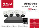 Dahua WizSense 6MP 4 CH Eyeball IP CCTV Kit (with 2TB HDD)