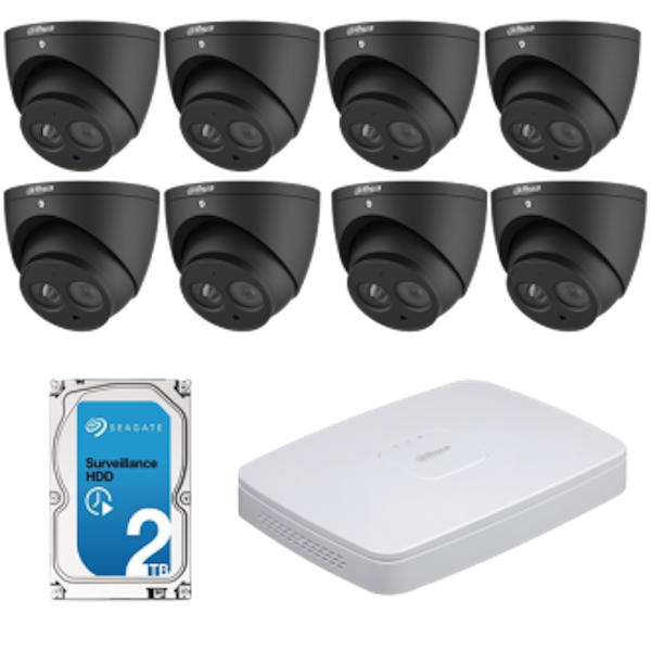 Dahua IPC-HDW4631EM-ASE-B + NVR4108-8P-4KS2 CCTV Kit (with 2TB HDD)