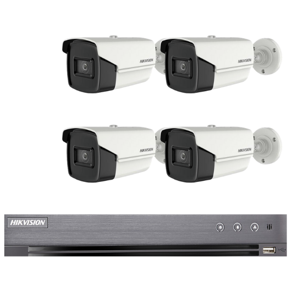 Hikvision 5MP 4CH Bullet HD-TVI CCTV Kit (with 2TB HDD)