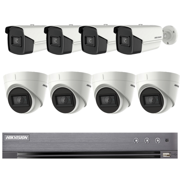 Hikvision 5MP 8CH Combo HD-TVI CCTV Kit (with 3TB HDD)