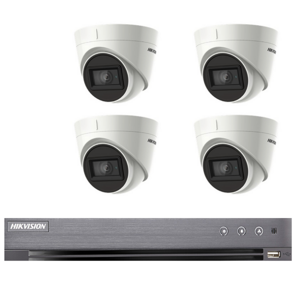 Hikvision 5MP 4CH Turret HD-TVI CCTV Kit (with 2TB HDD)