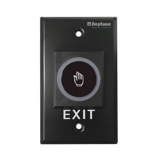 Neptune NENACLBDB Black Touchless Exit Button with LED Indicator