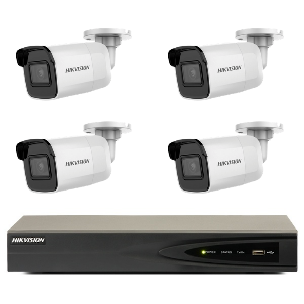 Hikvision DarkFighter 6MP 4CH Mini-Bullet IP CCTV Kit (with 3TB HDD)